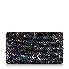 Head Over Heels by Dune - Black 'Brandie' smart rectangle clutch bag
