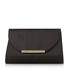 Head Over Heels by Dune - Black 'Bronnie' pleat panel clutch bag