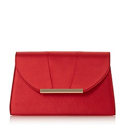 Head Over Heels by Dune - Red 'Bronnie' pleat panel clutch bag