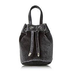 Head Over Heels by Dune - Grey 'Borough' small velvet bucket bag