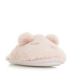 Head Over Heels by Dune - Pink 'Frankey' sleepy lamb slippers