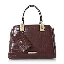 Dune - Dark red 'Dinidillier' purse charm mini top handle bag
