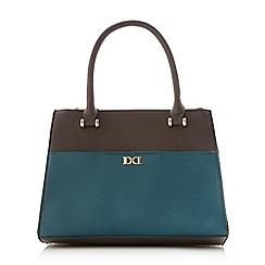 Dune - Mid blue 'Drhys' top handle structured handbag