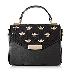 Dune - Black 'Dessie' embellished top handle bag