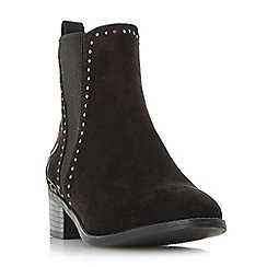 Head Over Heels by Dune - Black 'Peaky' block heel chelsea boots