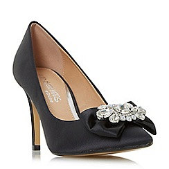 Head Over Heels by Dune - Black 'Addore' pearl and jewel trim court shoes
