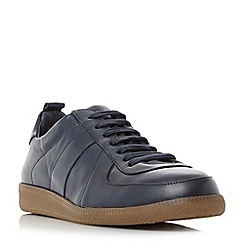 Bertie - Navy 'Barium' lace up leather trainers