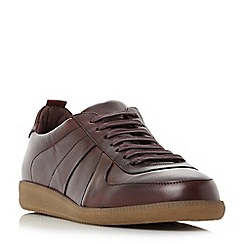 Bertie - Maroon 'Barium' lace up leather trainers