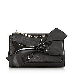 Dune - Black 'Elloie' bow trim shoulder bag