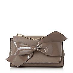 Dune - Taupe 'Elloie' bow trim shoulder bag