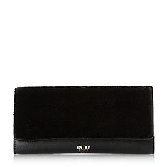 Dune - Black 'Kurby' faux fur front purse