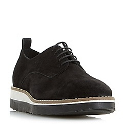 Dune - Black 'Fabrizio' flat form lace up shoes