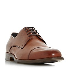 Bertie - Tan 'Paradox' square toe lace up shoes