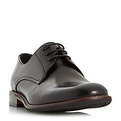 Bertie - Black 'Proxy' plain toe gibson shoes