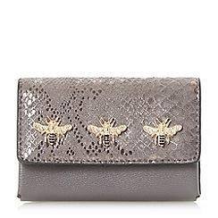 Dune - Grey 'Kimbug' embellished flap over purse