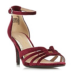 Head Over Heels by Dune - Red 'Munro' ankle strap sandals