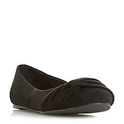 Head Over Heels by Dune - Black 'Helana' ballet pumps