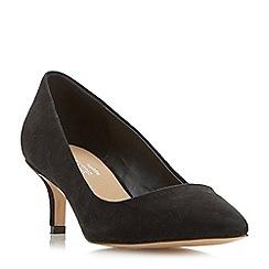 Head Over Heels by Dune - Black 'Annabel' kitten heel court shoes