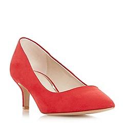 Head Over Heels by Dune - Red 'Annabel' kitten heel court shoes