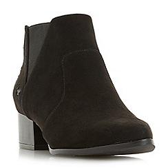 Head Over Heels by Dune - Black 'Starry' block heel ankle boots