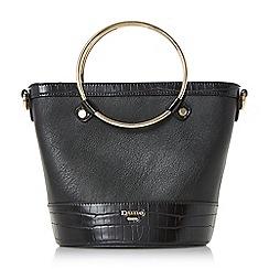 Dune - Black 'Dircle' circle handle shopper bag