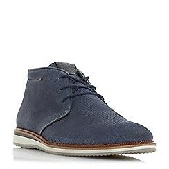 Dune - Blue 'Chadwell' lace up chukka boots