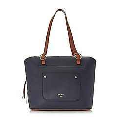 Dune - Navy 'Daniel' large front pocket handbag