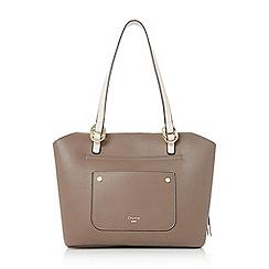 Dune - Grey 'Daniel' large front pocket handbag