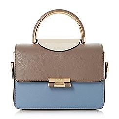 Dune - Blue 'Daandy' small half circle handle handbag