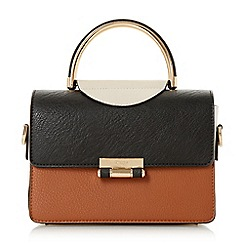 Dune - Tan 'Daandy' small half circle handle handbag