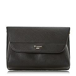 Dune - Black 'Ellanaa' double fold over clutch bag