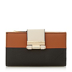 Dune - Black 'Kandey' colourblock slim purse