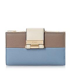 Dune - Blue 'Kandey' colourblock slim purse