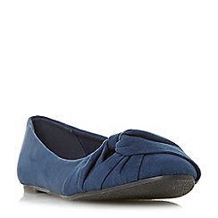 Head Over Heels by Dune - Navy 'Helana' ballet pumps