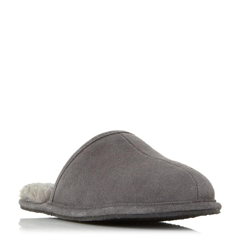3e7c86949f2 Dune - Grey  Frosty  Warm Lined Mule Slippers