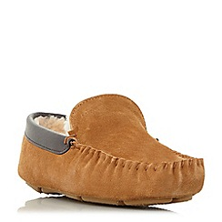 Dune - Tan 'Firefly' shearling lined loafer slippers