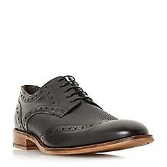 Bertie - Black 'Perth' embossed wingtip brogue shoes