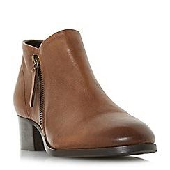 Dune - Tan leather 'padington' block heel ankle boots