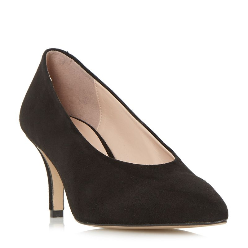 Dune - Black Suede Amorrell Court Shoes