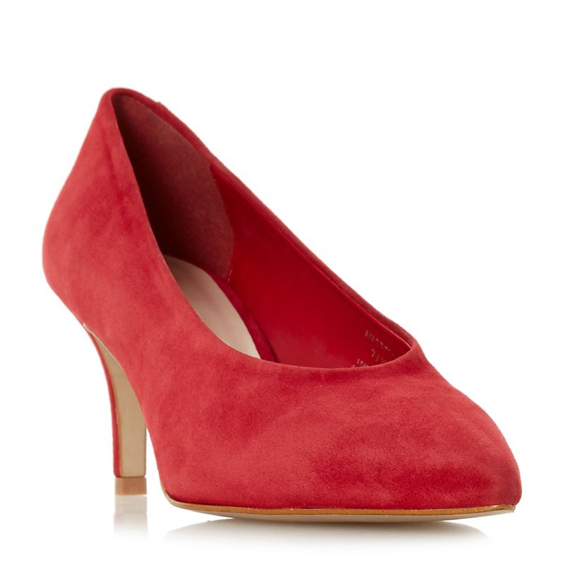 Dune Red suede Amorrell court shoes