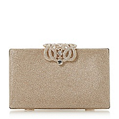 Dune - Gold 'Eterrnal' embellished clasp rectangular clutch
