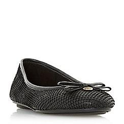 Dune - Black leather 'Harps' ballerina slippers