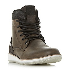 Dune - Grey 'Cambus' contrasting sole lace up boot