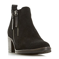 Dune - Black suede 'Pikton' ankle boots