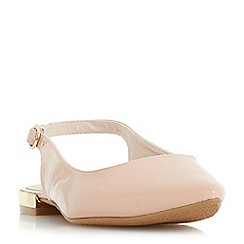 Head Over Heels by Dune - Natural 'Hipsta' court shoes