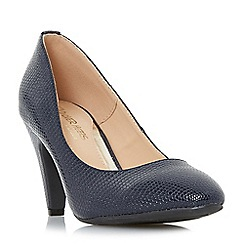 Head Over Heels by Dune - Navy 'Ava' mid stiletto heel court shoes