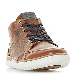 Dune - Tan 'Smashing' contrast collar cup sole trainers