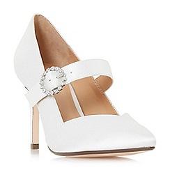 Roland Cartier - Ivory satin 'Araminta' high stiletto heel court shoes