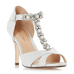 Roland Cartier - Silver glitter 'Maddalyn' high stiletto heel court shoes