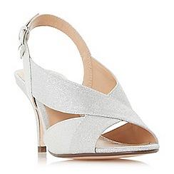 Roland Cartier - Silver 'Matilda' mid kitten heel court shoes